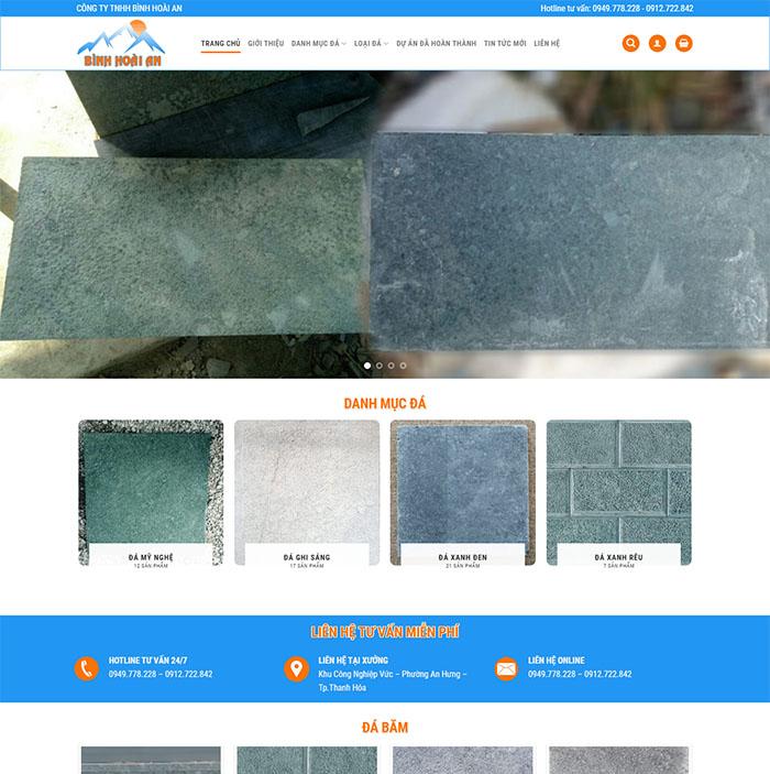 Mẫu Website Đá Tự Nhiên MA-226