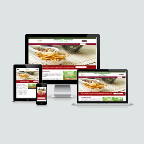 Mẫu Website Đông Trùng Hạ Thảo MA-232