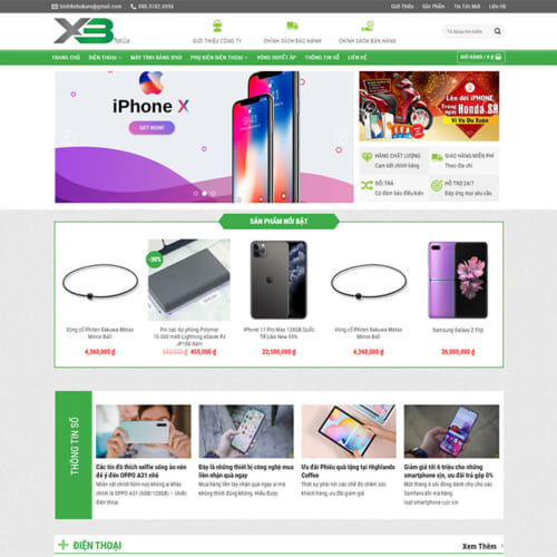 Mẫu Website Điện Thoại MA-233
