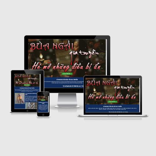Mẫu Website Bùa Yêu MA-239