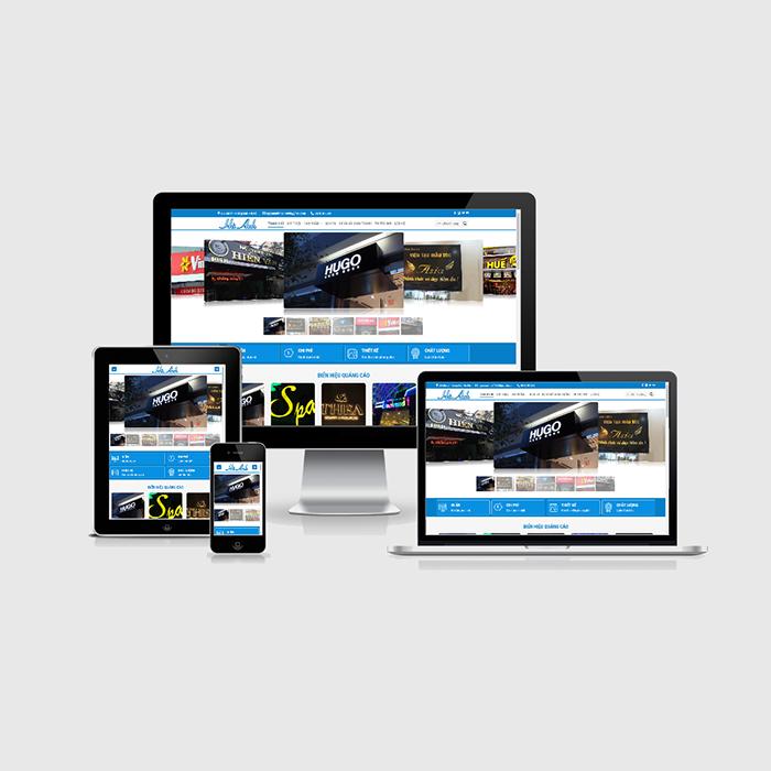 Mẫu Website Biển Hiệu Quảng Cáo MA-243