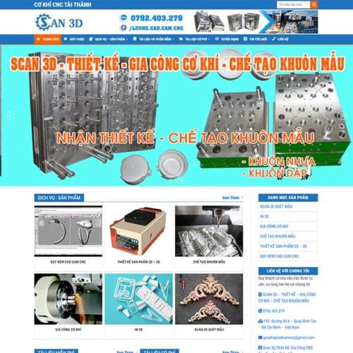 Mẫu Website Cơ Khí CNC MA-224