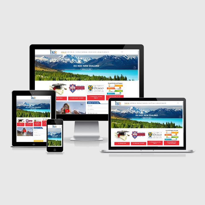 Mẫu Website Du Học MA-223