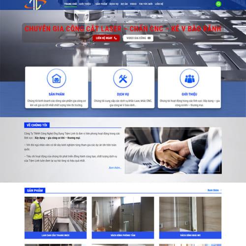Mẫu Website Gia Công Cắt Laser,CNC MA-229