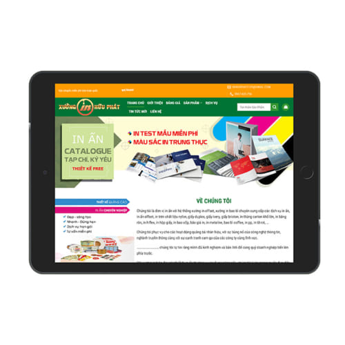 Mẫu Website In Ấn MA-227