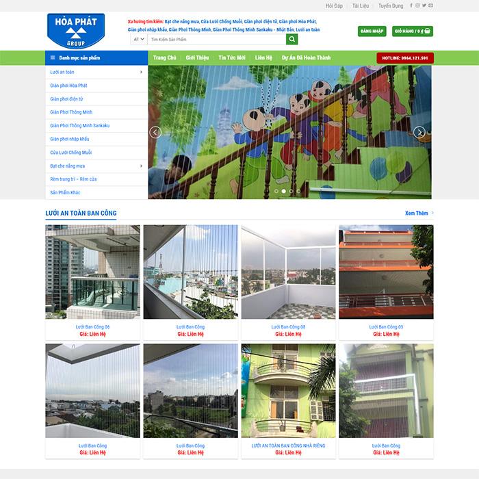 Mẫu Website Lưới An Toàn MA-240