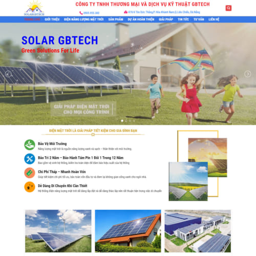 Mẫu Website Năng Lượng Mặt Trời MA-242
