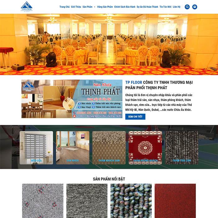 Mẫu Website Phân Phối Thảm Trải Sàn,Sàn Nhựa,Rèm Cửa MA-235
