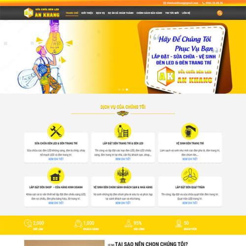 Mẫu Website Sữa Chữa Đèn Led MA-234