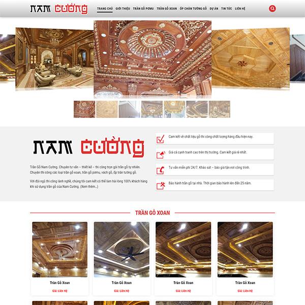 Mẫu Website Thi Công Trần Gỗ, Sàn Gỗ MA-231