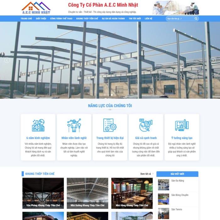 Mẫu Website Thi Công Xây Dựng MA-241