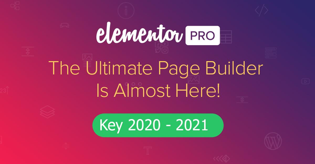 Elementor Pro 2020 đầy đủ tính năng