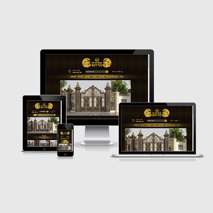Mẫu Website Sắt Mỹ Nghệ MA-222