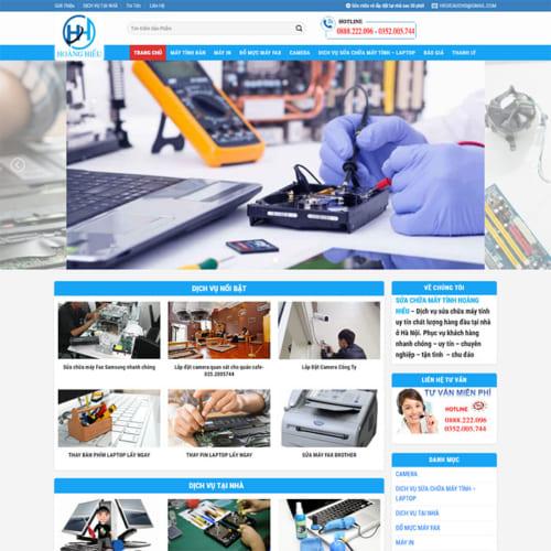 Mẫu Website Sửa Chữa Bảo Hành Máy Tính MA-221