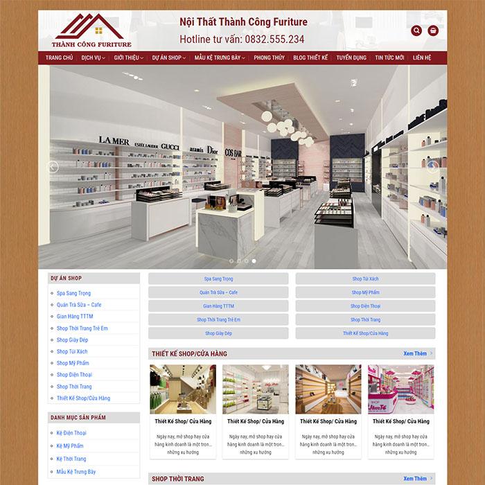 Mẫu Website Thi Công Nội Thất MA-247