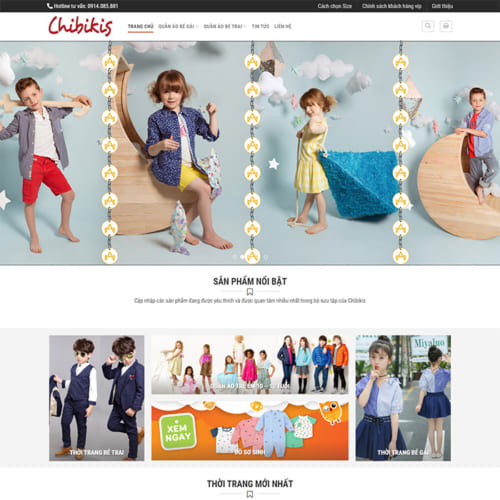 Mẫu Website Thời Trang Trẻ Em MA-245