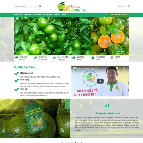 Mẫu Website Cung Cấp Cam Quýt MA-253
