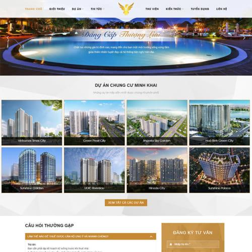 Mẫu Website Dự Án Bất Động Sản MA-268