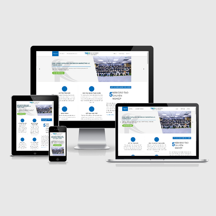 Mẫu Website Khóa Học Facebook Marketing 4.0 MA-260