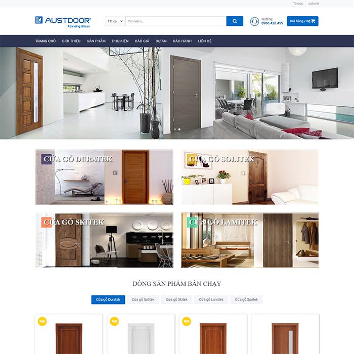 Mẫu Website Phân Phối & Bán Lẻ Cửa Gỗ MA-257