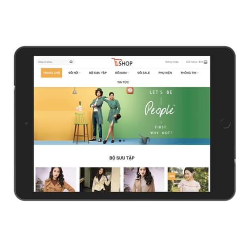 Mẫu Website Shop Quần Áo Nam Nữ MA-262