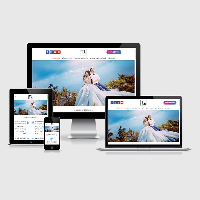Mẫu Website Studio Chụp Ảnh Cưới MA-261
