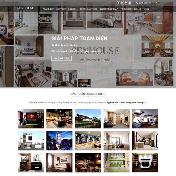 Mẫu Website Thiết Kế Nội Thất MA-252