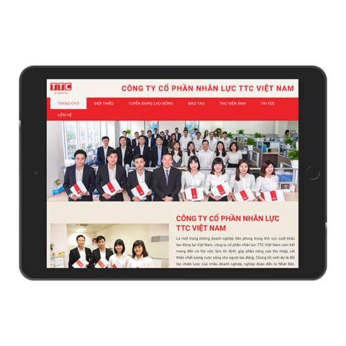 Mẫu Website Tuyển Dụng Đào Tạo Nhân Lực MA-266