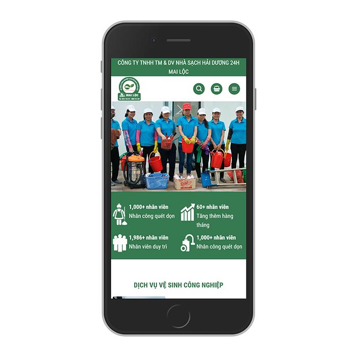 Mẫu Website Vệ Sinh Công Nghiệp MA-249