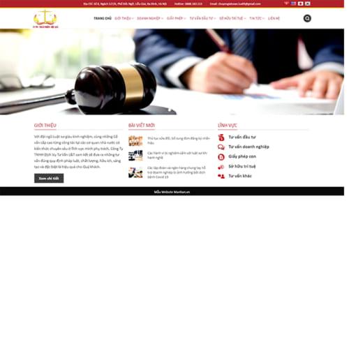 Mẫu Website Dịch Vụ Tư Vấn Luật MA-273
