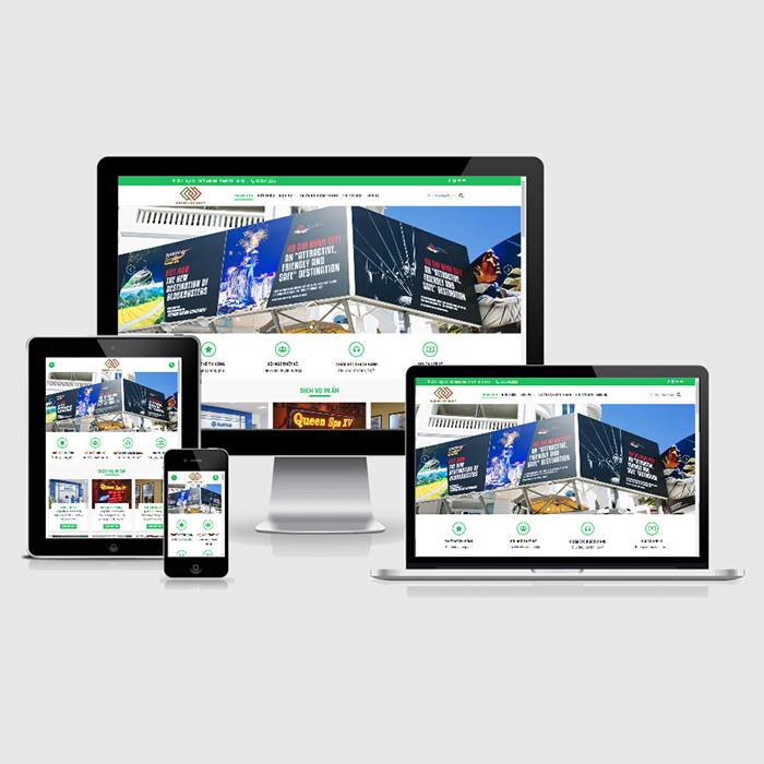 Mẫu Website In Ấn Biển Hiệu Quảng CáoMA-274