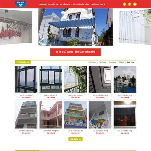 Mẫu Website Lưới An Toàn,Bạt Che Nắng MA-275