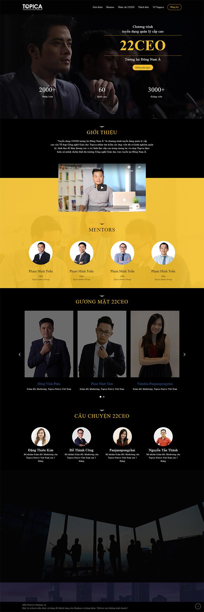 Mẫu thiết kế website Mạnh An Service