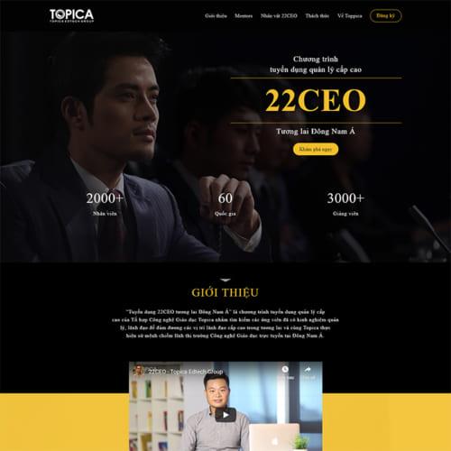 Mẫu Website Tuyển Dụng Ceo MA-270