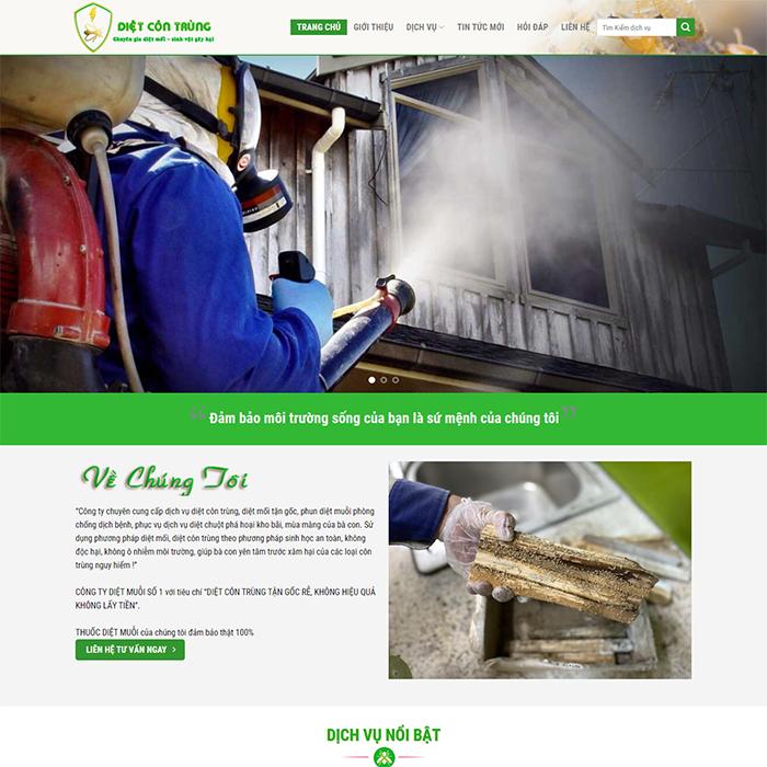 Mẫu Website Diệt Côn Trùng MA-280