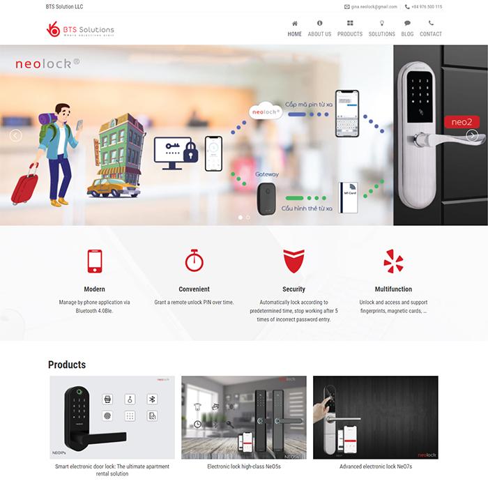 Mẫu Website Khóa Cửa Thông Minh MA-284