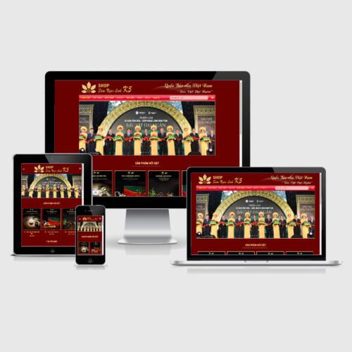 Mẫu Website Sâm Ngọc Linh MA-278