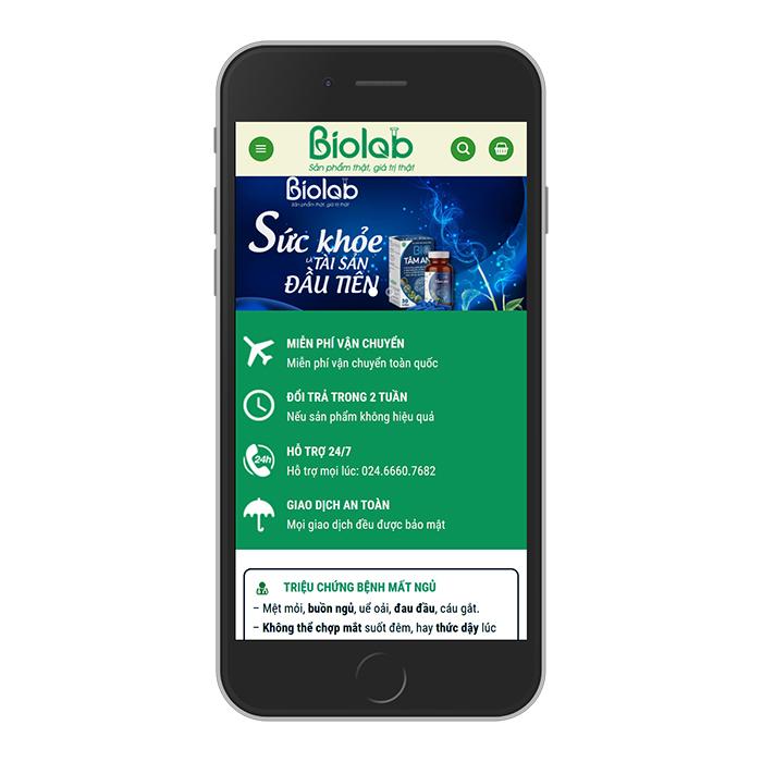 Mẫu Website Thực Phẩm Chức Năng Bione MA-282