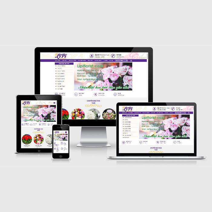 Mẫu Website Bán Hoa Tươi MA-303