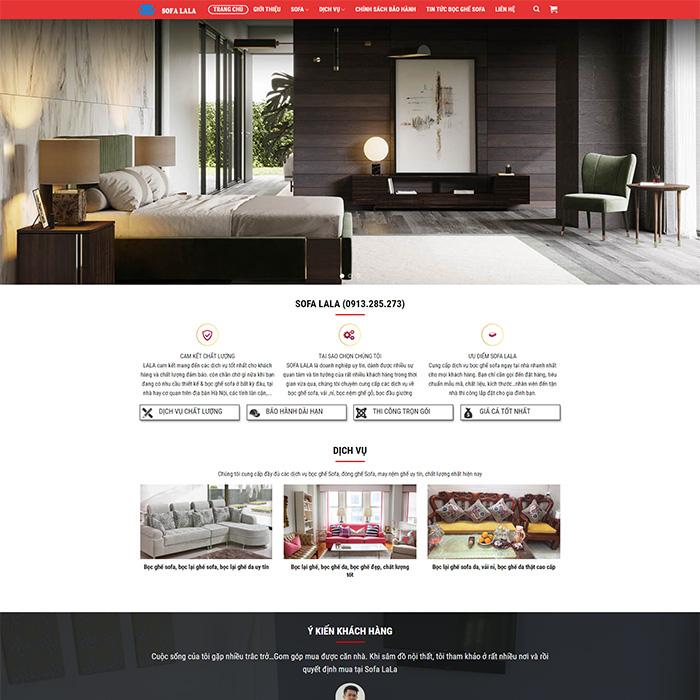 Mẫu Website Bán Sofa MA-301