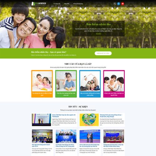 Mẫu Website Bảo Hiểm Nhân Thọ MA-287