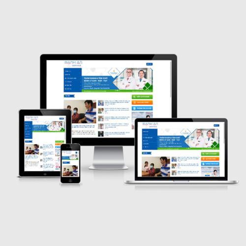 Mẫu Website Bệnh Viện Vinmec MA-290