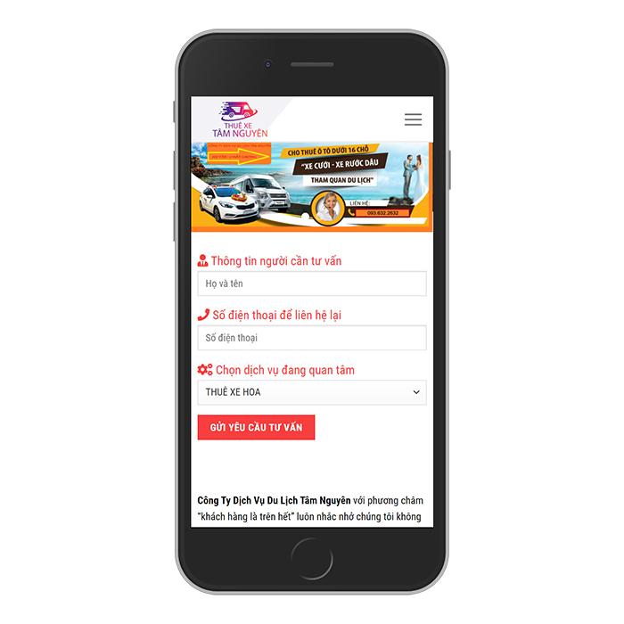 Mẫu Website Cho Thuê Xe Ô Tô MA-300