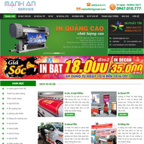 Mẫu Website In Ấn Phẩm MA-297