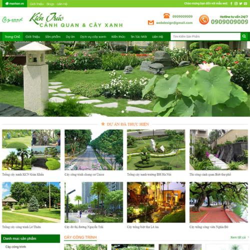 Mẫu Website Kiến Trúc Cây Xanh MA-295