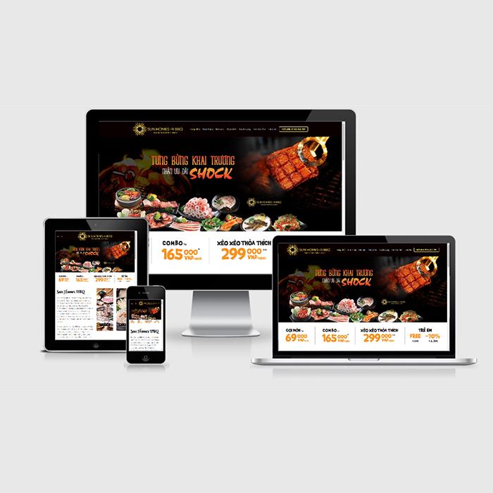 Mẫu Website Nhà Hàng BBQ MA-291