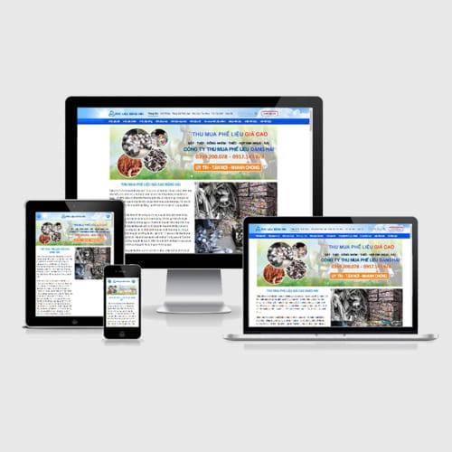 Mẫu Website Thu Mua Phế Liệu MA-285