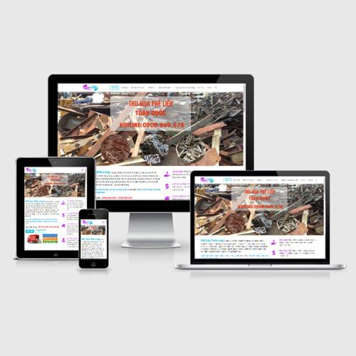 Mẫu Website Thu Mua Phế Liệu MA-299