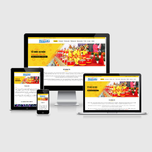 Mẫu Website Tổ Chức Sự Kiện MA-296