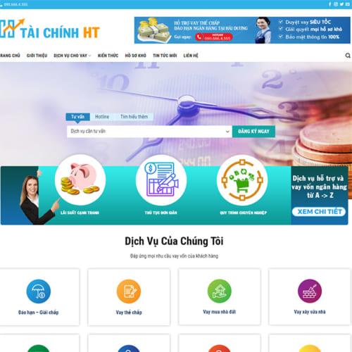 Mẫu Website Cho Vay Tài Chính MA-306